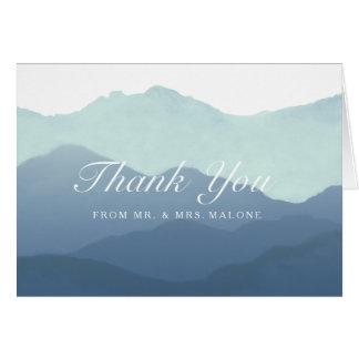 Mountain Range Wedding Thank You Card