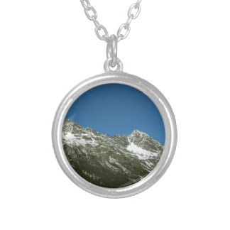 Mountain Ranges Round Pendant Necklace