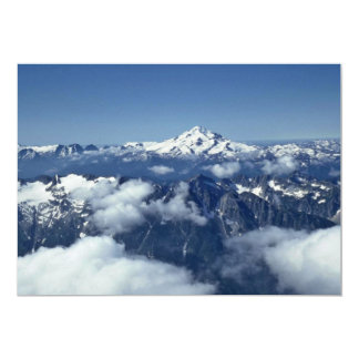 Mountain Ranges Seen From The Sky 5x7 Paper Invitation Card