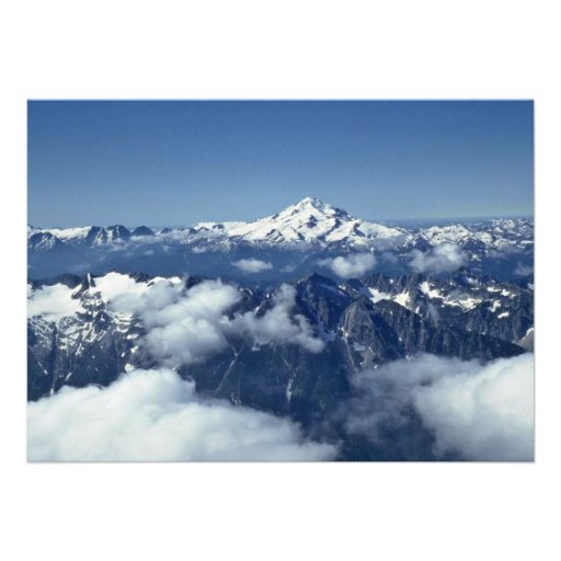 Mountain Ranges Seen From The Sky Custom Invite