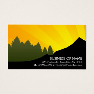 mountain rays business card