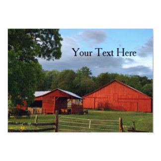 Mountain Red Barn Country Scene Card