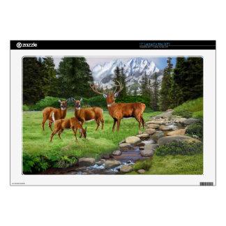 Mountain Red Deer Safari Laptop Skins