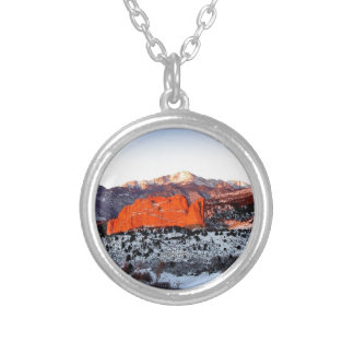 Mountain Red Rock Reflection Personalized Necklace