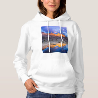 Mountain reflection, California Hoodie