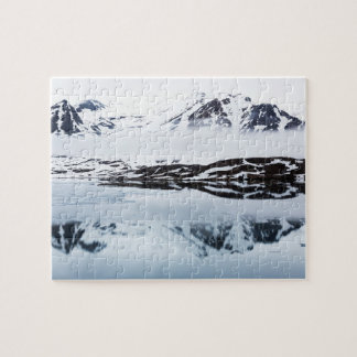 Mountain reflections, Norway Jigsaw Puzzle