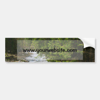 Mountain River In A Valley, Nature, Landscape Bumper Sticker