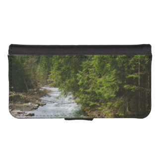 Mountain River In A Valley, Nature, Landscape Wallet Phone Case For iPhone SE/5/5s