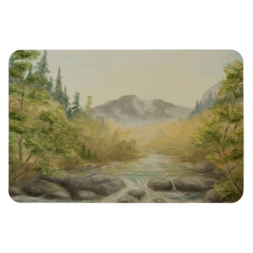 Mountain River Magnet