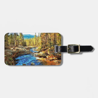 Mountain, River Nature Scene 05 Tag For Luggage