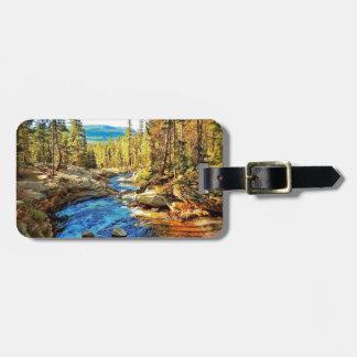 Mountain, River Nature Scene 05 Travel Bag Tags