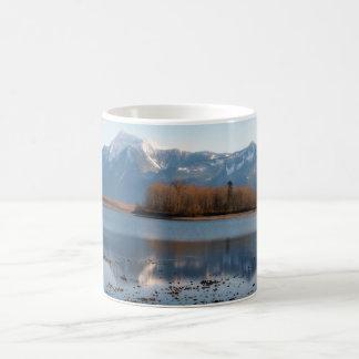 Mountain River Scene Landscape Mugs