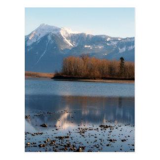 Mountain River Scene Landscape Post Card