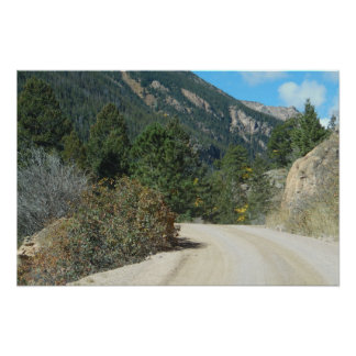 Mountain Road Landscape Photo Nature Wall Poster