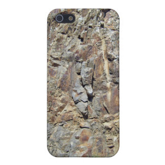 Mountain Rock Wall with Tiny Yellow Flowering Plan Cover For iPhone 5