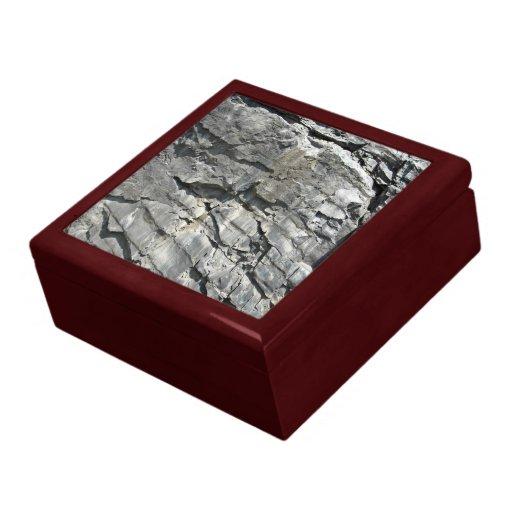 Mountain Rocks Stone Texture Trinket Box