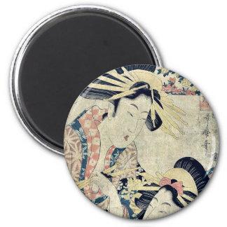 Mountain rose by Utamaro II, d. ca. Fridge Magnets