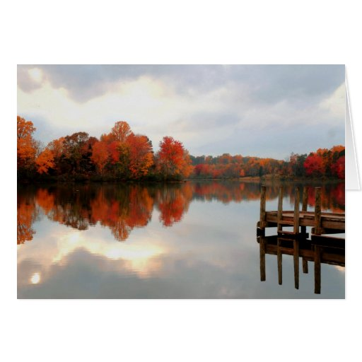 Mountain Run Lake Stationery Note Card