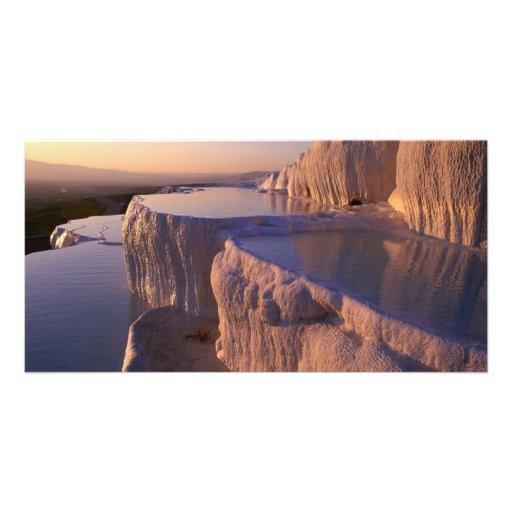 Mountain Salt Ponds Personalized Photo Card