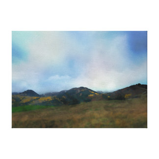 Mountain Scene 2 Stretched Canvas Prints