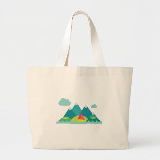 Mountain Scene Jumbo Tote Bag