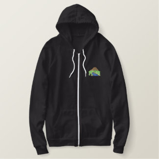Mountain Scene Embroidered Hoodie