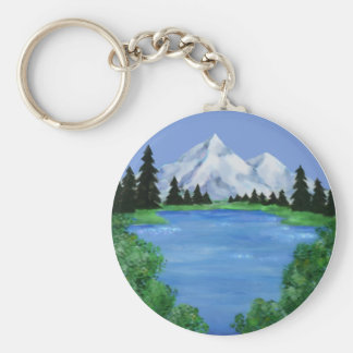 Mountain Scene Keychain