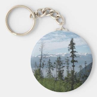 Mountain scene key chains