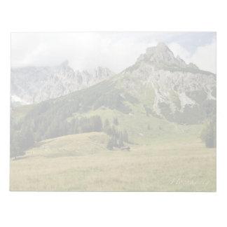 Mountain scenery notepad