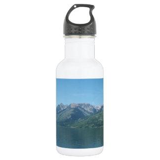 Mountain serenity stainless steel water bottle