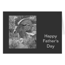 Mountain Sheep Father's Day Card