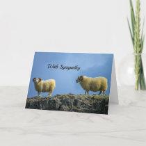 Mountain Sheep Sympathy Card