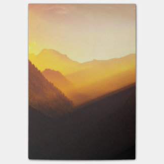 Mountain Silhouettes Sunset Beautiful Nature Post-it® Notes