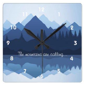 Mountain Silhouettes Wall Clock
