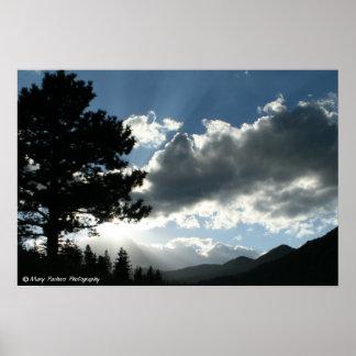 Mountain Silloette Poster