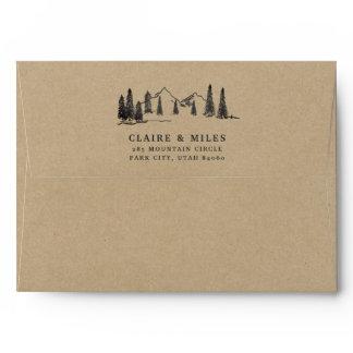 Mountain Sketch Kraft Envelope