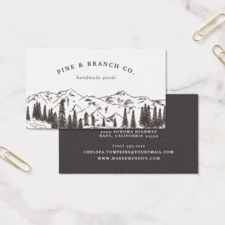 Mountain Sketch Logo Business Card