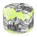 Mountain Sketch Pouf