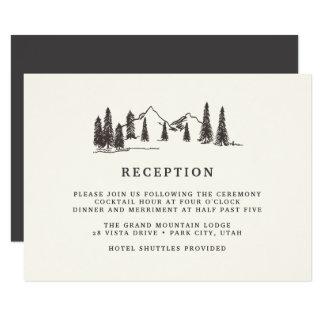 Mountain Sketch Reception Card