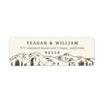 Mountain Sketch Return Address Label