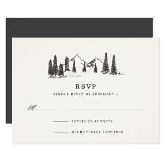 Mountain Sketch RSVP Card