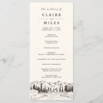 Mountain Sketch Wedding Ceremony Program