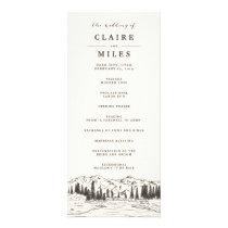 Mountain Sketch Wedding Ceremony Program