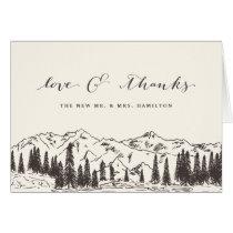 Mountain Sketch Wedding Thank You
