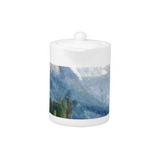 Mountain slope and lake