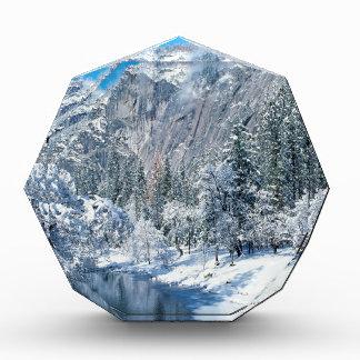 Mountain Snow Flocks Yosemite Par Acrylic Award