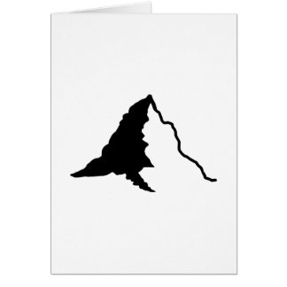Mountain snow greeting cards