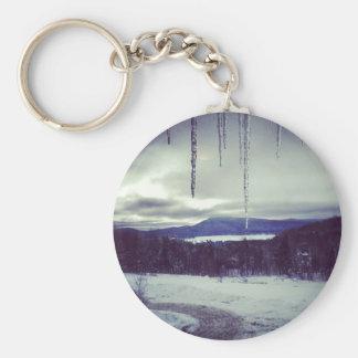 Mountain snow scape key chains