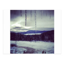 Mountain snow scape postcard