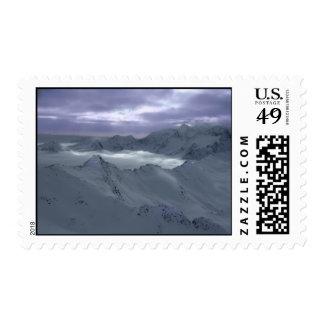Mountain snow stamps